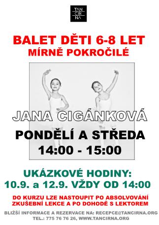 Taneční studio Petra Čadka - Balet pro mírně pokročilé děti 6-8 let 09bbda9e17